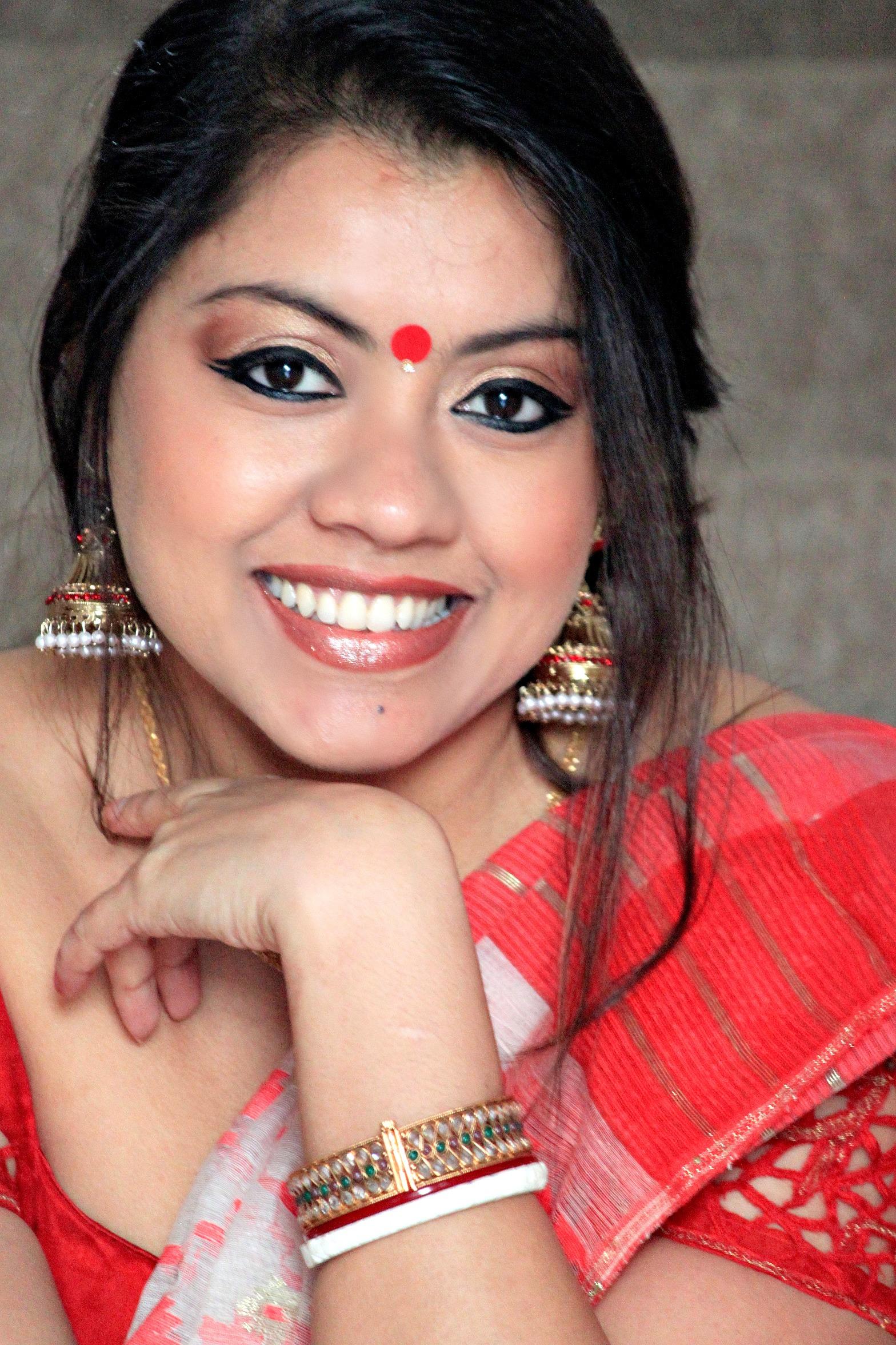 Sareesutra baishakhi look in dhakai jamdani onetimefashionista
