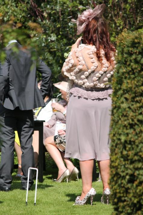Then I saw some royal fashionistas at a garden wedding...impromptu