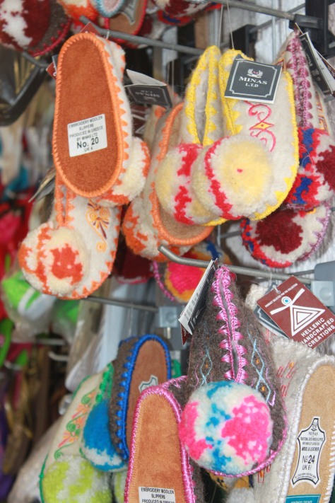 Greek shoes made of sheep wool