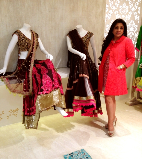 Designer with her creations at VARIJA DESIGN STUDIO @ E-4 Defence Colony,Ring Road,New Delhi