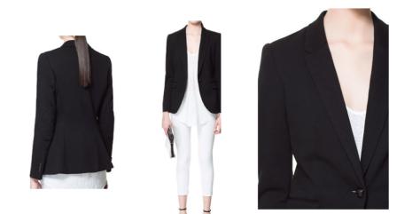 Zara double stitch blazer with elbow patch. Shop here http://www.zara.com/uk/en/woman/blazers-c436451.html
