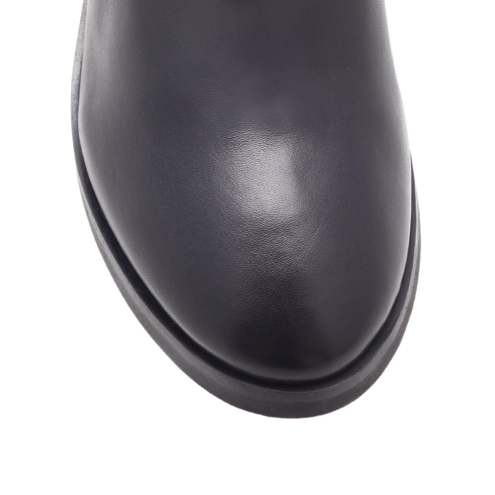 Metallic Low Heel Grey Shoes
