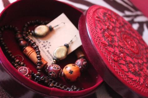 Handmade jewelleries and box from Aarong, Bangladesh