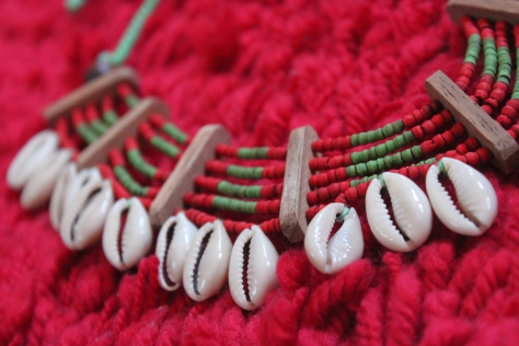 Handmade tribal necklace from Jatra, Bangladesh