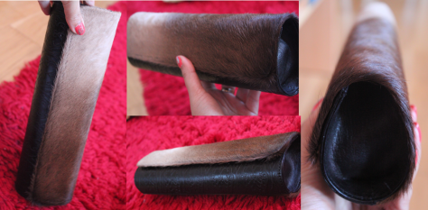 Leather and fur clutch bag from Aarong is a present from my ex-students Marzia and Arif