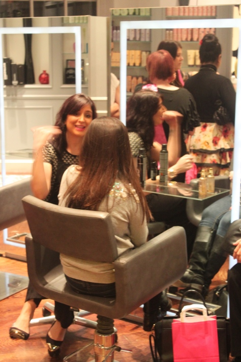 One-to-one consultation on hair styling. '' Your hair-style can make you look fat, thin, pretty and ugly''- Andrew Barton