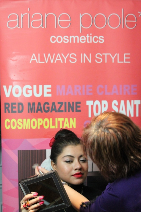 With the lady with a magic touch- celebrity make-up artist Ariane Poole