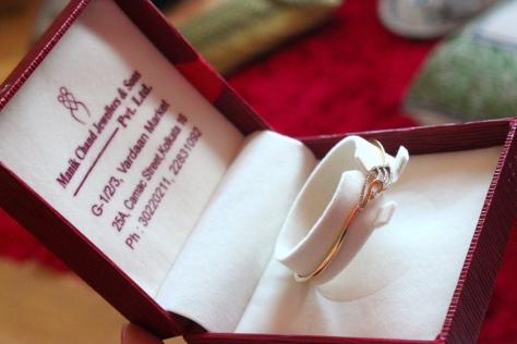 Diamond bracelet in gold