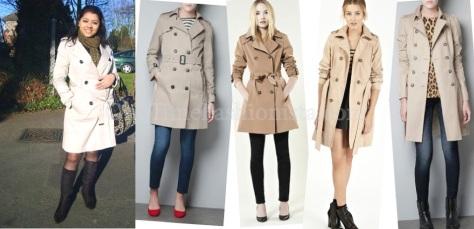 A trenchcoat or mac- every woman's wardrobe basics