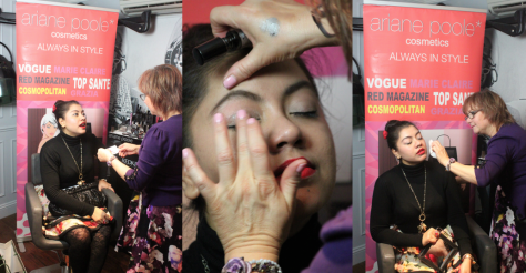 In conversation with celebrity make-up artist Ariane Poole and receiving her magic touch:)