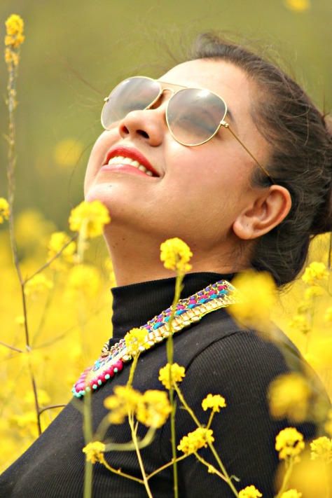 Life is to enjoy , go on a road trip and breath freshness of mustard field