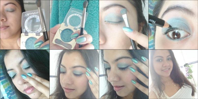 Summer Make-Up: Metallic Aqua Blue