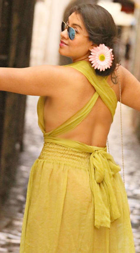 A Chiffon Maxi Dress With A Character