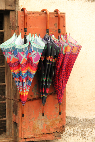 Colourful printed umbrella