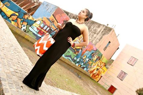 Asos Tall Bandeau Black Maxi Dress