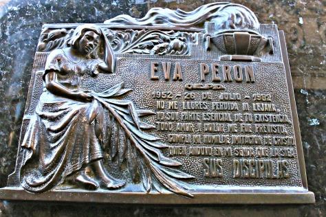"""Crypt of Eva Peron, """"Evita"""""""