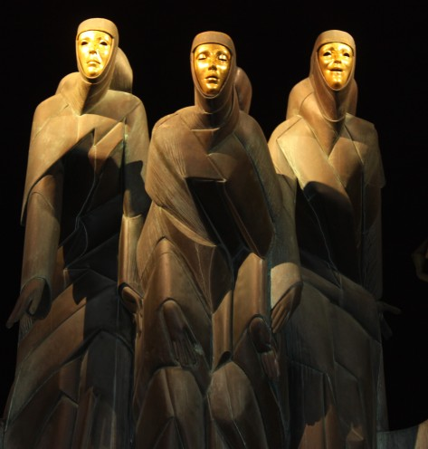 The Three Muses statue National Drama Theatre Vilnius Lithuania