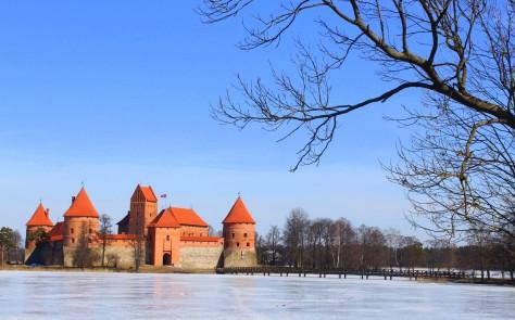 Panoramic view of Trakai