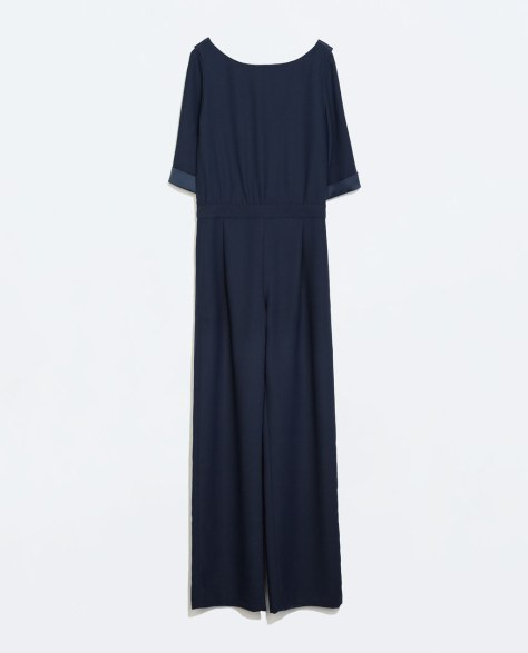 Long Jumpsuit with low back and chain detail from Zara