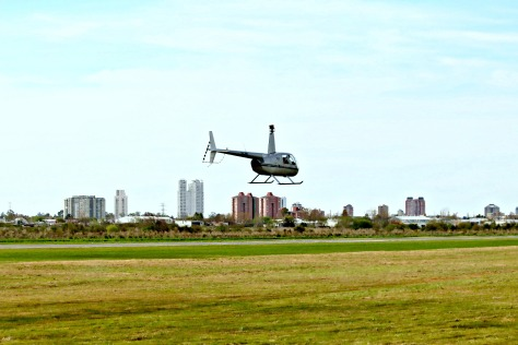 The sky was blue and the sun was shining bright – perfect condition for a chopper ride.