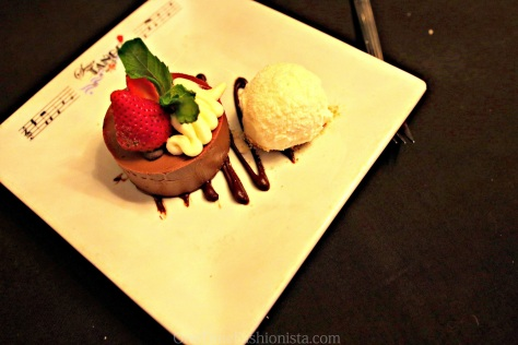 Time for the dessert  Dessert menu option: One