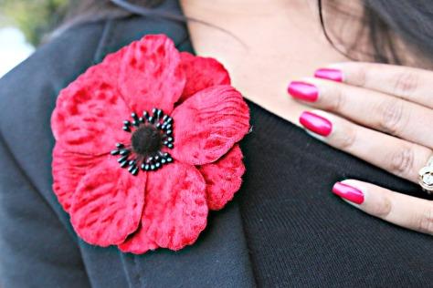 The Royal British Legion Poppy Brooch