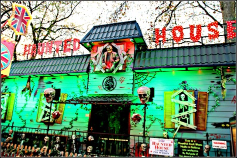 Get spooked in the Haunted House!