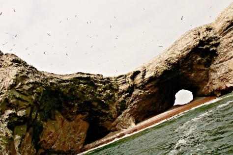 """Rock formation """"La Catedral"""" Paracas National Park"""