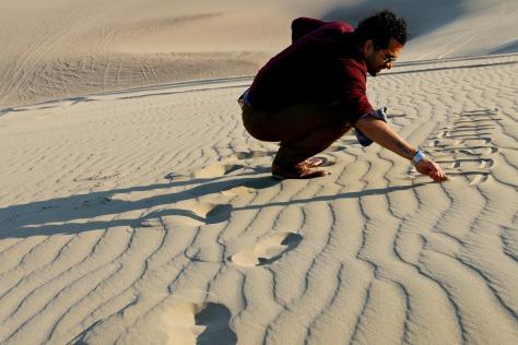 Desert scripture in progress