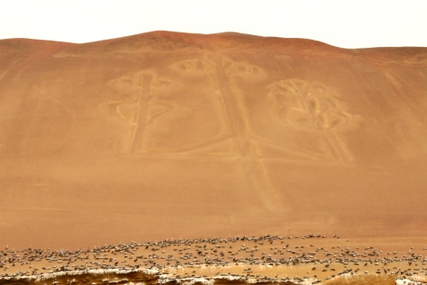 The mysterious Candelebra etched into a hill overlooking the Pacific ocean