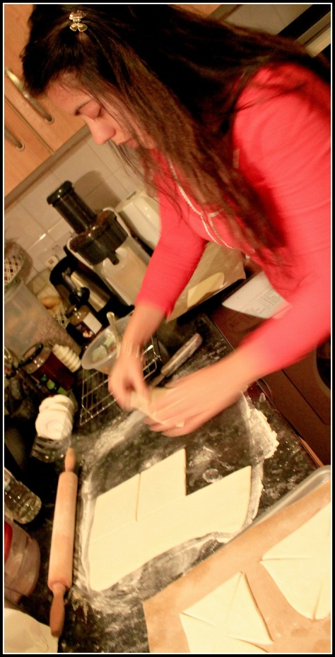 Dust your baking sttaion with some flour in order to avoid sticking to the work surface