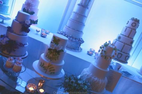 Wedding cakes at display