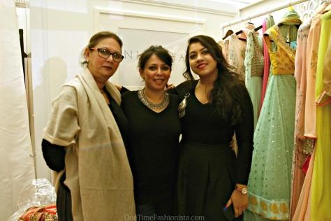 With designer Nikasha and her mum who I now call Renu Mashi
