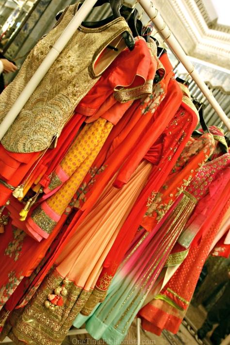 Vibrant colors on display at designer Nikasha's stall