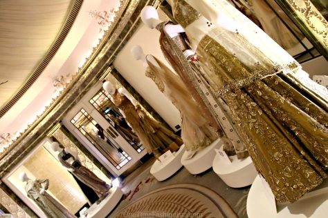 The Gold room of the show- where every designer participated had their one exclusive creation on display