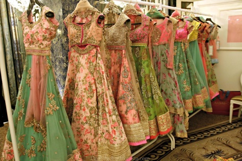 Anushree Reddy's floral lehengas and kalidars. We're back to the era of romanticism, and floral patterns are all over every ...