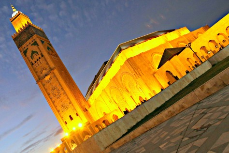 Night view of Hassan II Mosque Casablanca