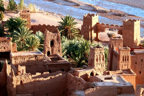 UNESCO World Heritage Site Aït Benhaddou is a fortified city, or ksar as they call it