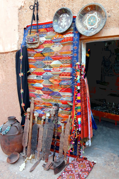 Your living room would be happy to have a handmade colorful rug by the Berber tribes in the Atlas Mountains