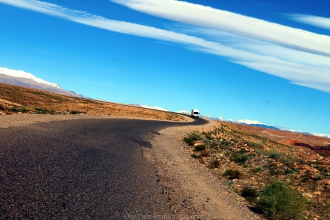 Scenic drive through the mountains of the High Atlas