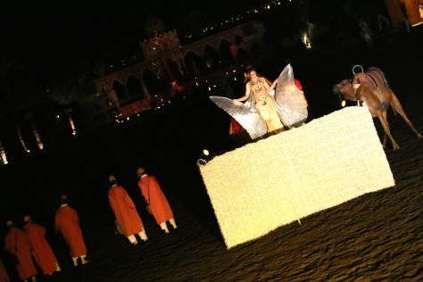 The Fantasia dinner at the spectacular Chez Ali restaurant is a guarantee of a true Arabian Nights' experience