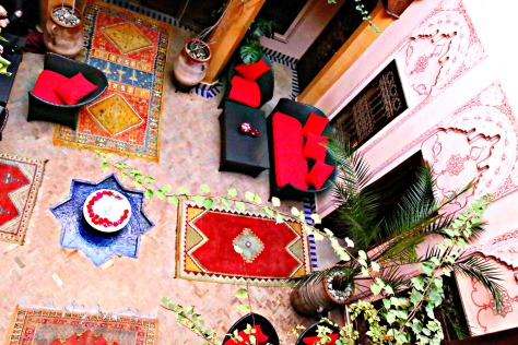 The courtyard and every part of La Maison Arabe is full of Moroccan charm-a traditional riad setup with beautifully ornate decorations and a variety of tranquil common spaces