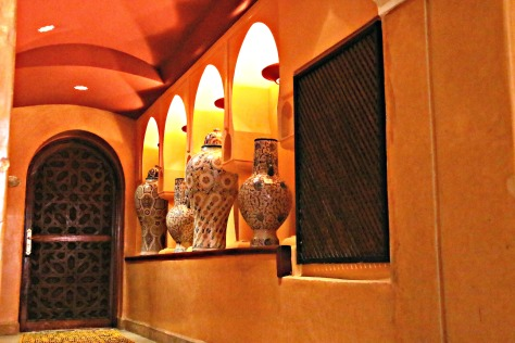 Way to the Hammam- every single interior decoration detail is of Moroccan charm