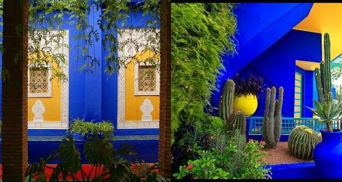 Vintage glamour yves saint laurent s jardin majorelle in for Jardin yves saint laurent maroc