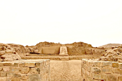 The temple of Pachacamac is an archaeological site 40 km southeast of Lima, Peru in the Valley of the Lurín River