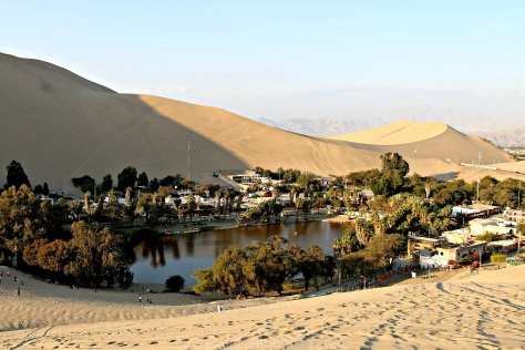 Located five hours south of Lima, the desert oasis Huacachina is home to an extraordinary adventure tour called the dune buggy and sandboarding tour