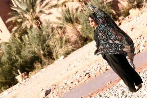 The Desert Wind Blows in Morocco: Dupatta Salwar Double Up