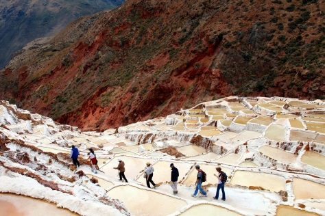 Maras salt pans, a fascinating system of platforms used since Inca times to extract salt from a natural mountain spring