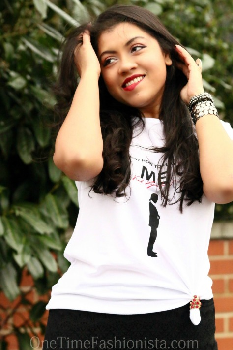 Comic Relief T-shirt for Red Nose Day: Tanusree Wears Karl Lagerfeld