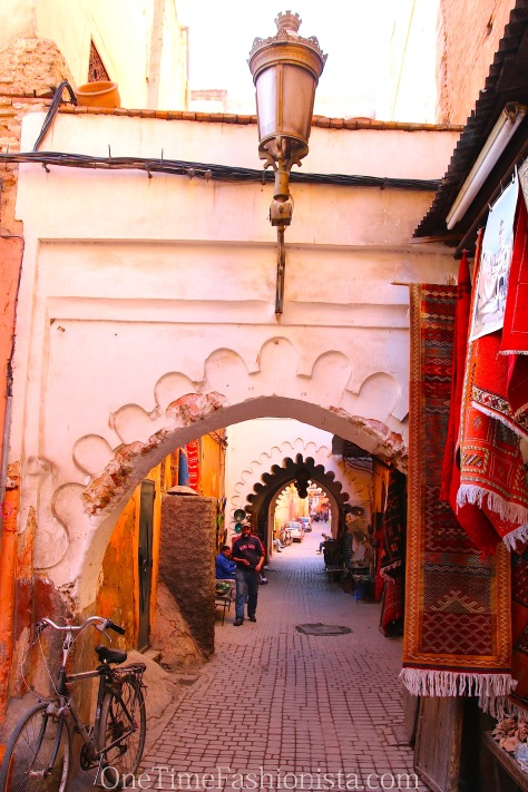 Old narrow street that will take you down back into the Spice Market